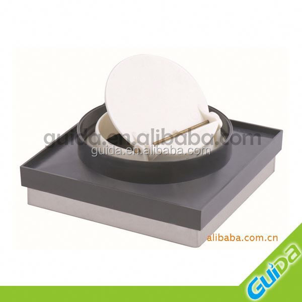 Square stainless steel deodorant floor drain