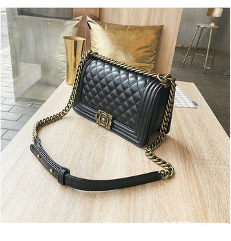 2020 Fashion new handbags High quality PU leather Women bag Small chain Shoulder bag Lock crossbody luxury branded bags