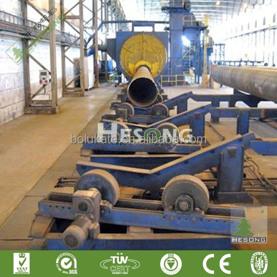 CE Approved Shot Blasting Machine/Steel Pipe Rust And Paint Remover
