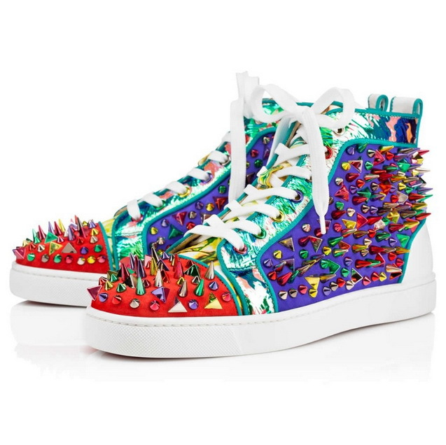 newest a4f51 8b40c red bottom spiked sneakers, replica christian louboutin shoes