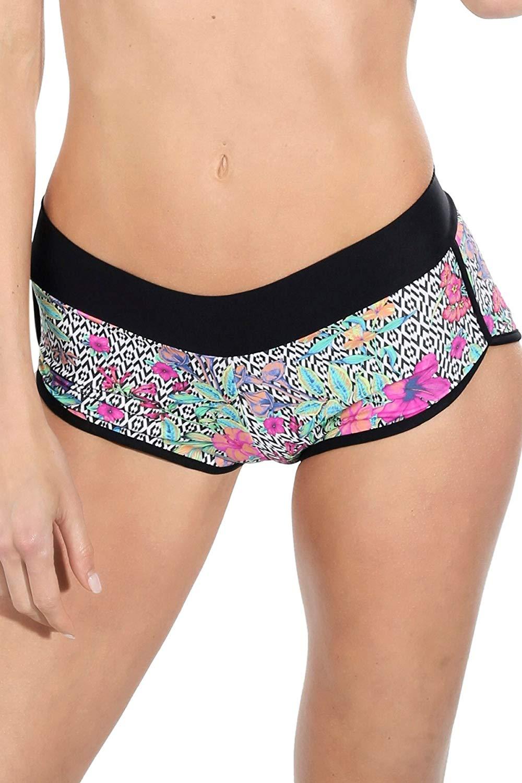 4531761abe Brazilian Boy Shorts Bikini Bottoms. Cheeky Swimwear for Women. Swimsuit
