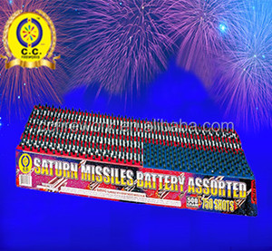 high quality 25 36 50 100 176 200 250 325 750 1000 Shots Saturn Missile Battery Fireworks for wholesale