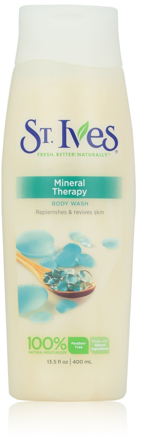 St Ives Body Wash 13.5 oz - Mineral Therapy + FREE LA Cross Blemish Remover 74851