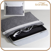 Handmade Elegant Wool felt new case for iPad mini Sleeve with Leather Flap
