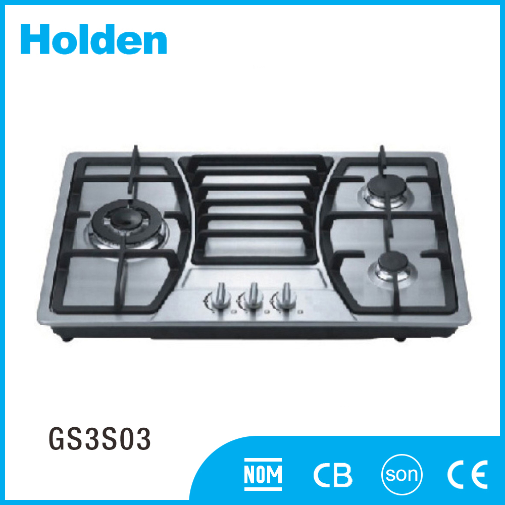 GS3S03 High temperature panel 3 burners gas stove with stainless steel
