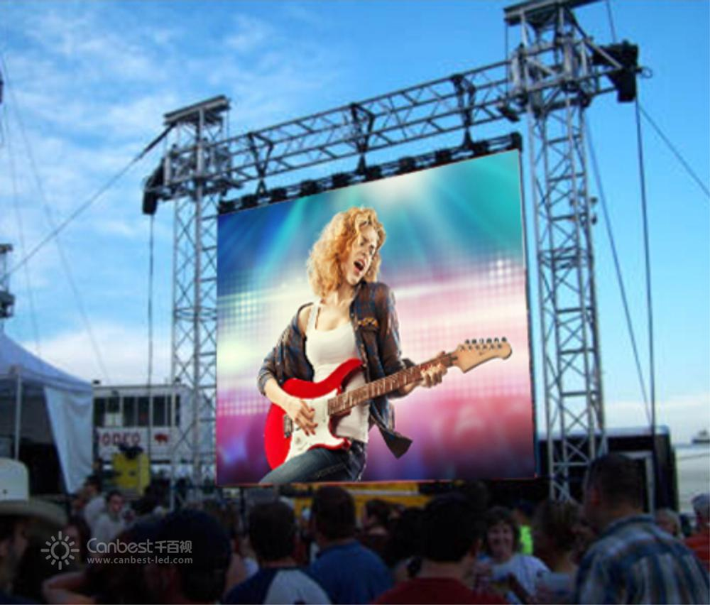 P4 P5 P6 P8 Outdoor Tahan Air Penuh Warna Dua Sisi LED Display/LED Screen/LED Tanda