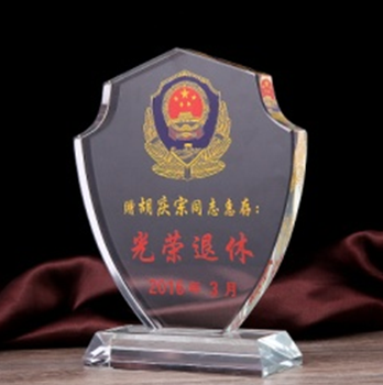 Free Shipping Cheap Handmade Crystal Trophy Medal Moq 1pc