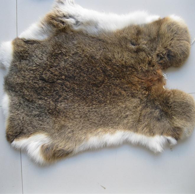 100% Real Rabbit Fur Rug Dyed Rabbit Fur Plate For Garments Entertainment Memorabilia
