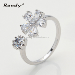 Fashion Anniversary Silver Ring latest gold finger ring designs for women crystal ring