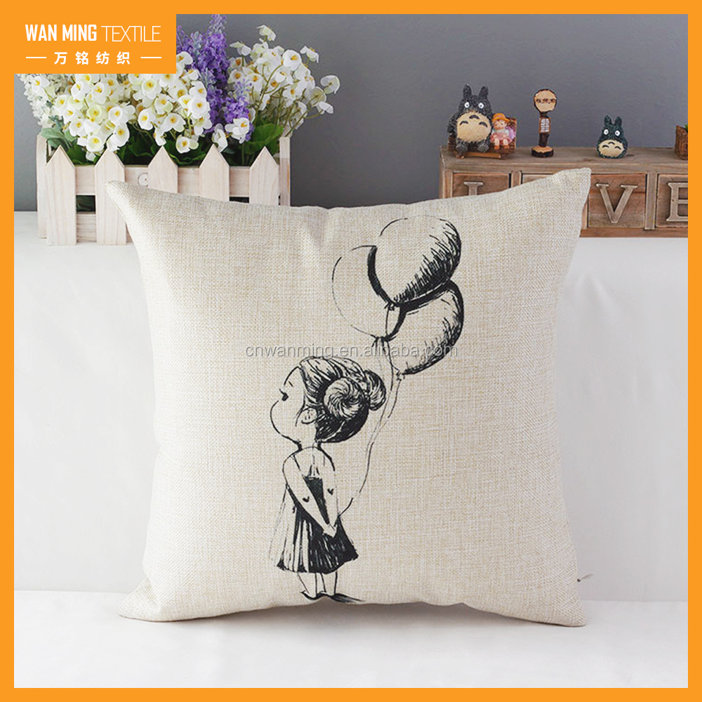 High quality new style home decoration Fashion linen pillow throw