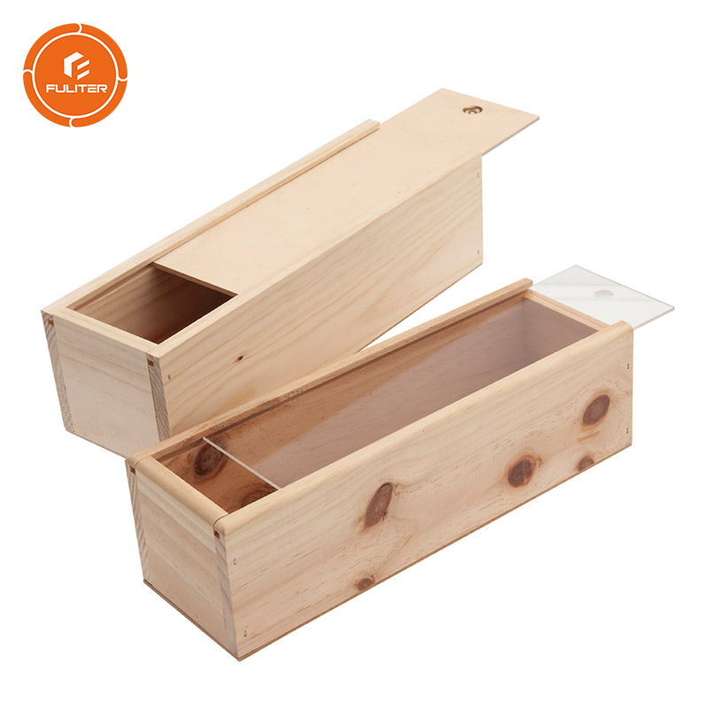 Personalized Custom Wholesale Bulk Cheap Wooden Wine Boxes with Sliding Design