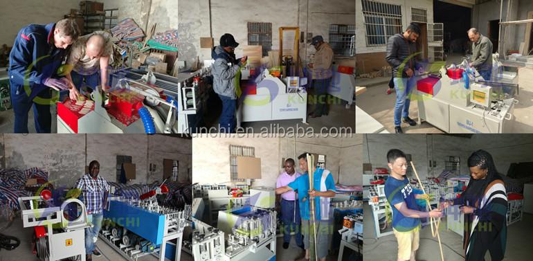 Yüksek verimli bambu kürdan üretim hattı / bambu çubuk yapma makinesi KUNCHI tarafından sağlanan