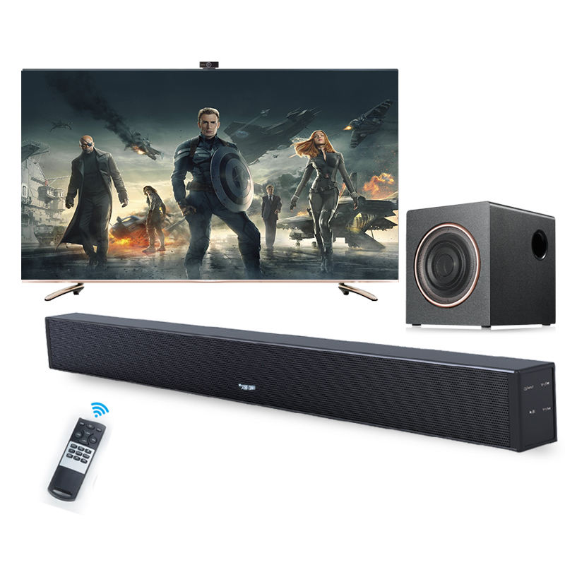 2.1Ch Sistema Home Theater Senza Fili Bluetooth4.2 TV Sound Bar Con Subwoofer