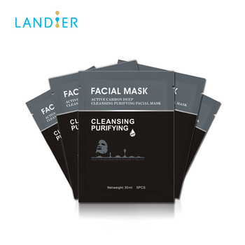 Black Facial mask wholesale Activate Carbon Facial sheet Mask deep cleansing Face Mask