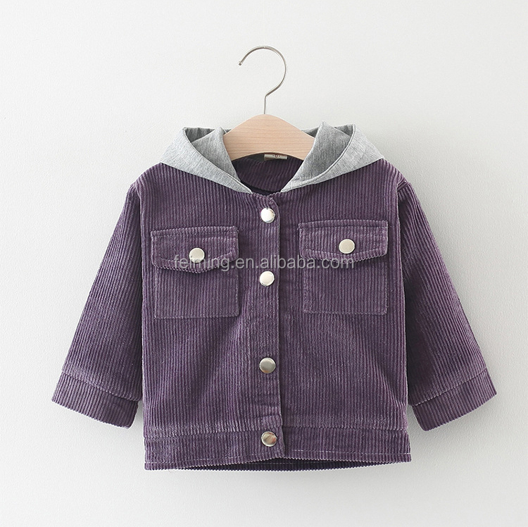 New Arrival Wholesale Autumn  Long Sleeve Baby Girl Coat Fashion Korean Girls Coat