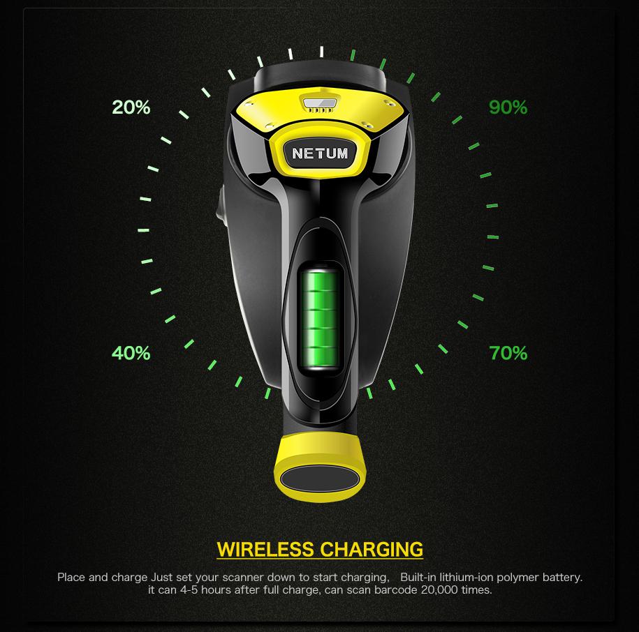 handheld 2d scanner wireless supermarket barcode reader scanner price nt-I8 for sale
