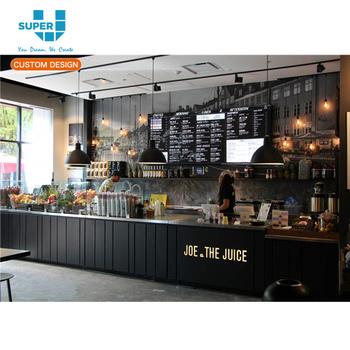 High Quality Juice Bar Counter Design Food Cash Table ...