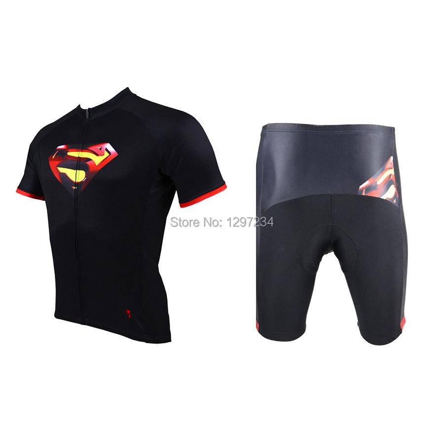 Get Quotations · 2014 men s superman cartoon cycling jersey+paladin biking  shorts superman hero riding jersey novelty cycling 7d943b82b