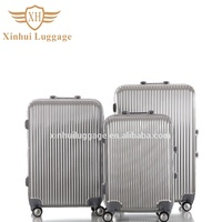 Dongguan factory hard cover luggage travel luggage bag aluminum trolley case