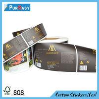 Waterproof cosmetic label printing custom service