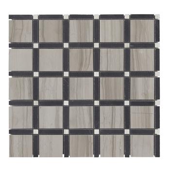 Decorstone24 Sandalwood Marble Gray Limestone Kitchen Backsplash Mosaic  Tiles