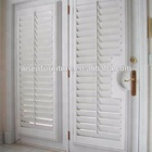 French shutters hidden tilt rod pvc plantation shutters weatherproof louvers