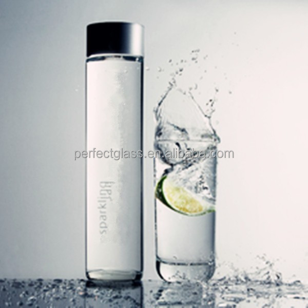 400 Ml Cylinder Voss Type Water Glass Bottle With Screw Cap - Buy Voss  Water Glass Bottle,Clear Glass Bottles With Screw Cap,Voss Water Bottle  Glass