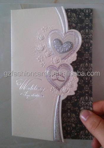 Novelty Products Beautiful wedding invitation card arabic with Hearts