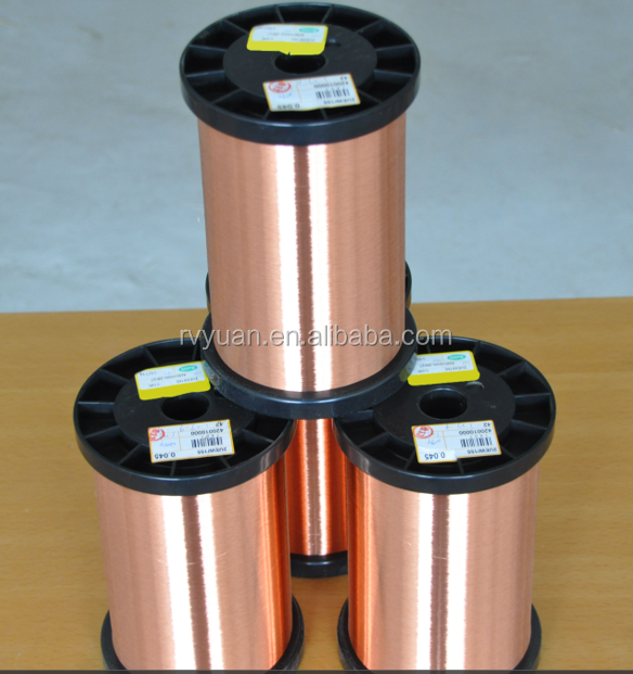 UL certificated 0.1mm high quality high frequency using enameled magnet copper wire