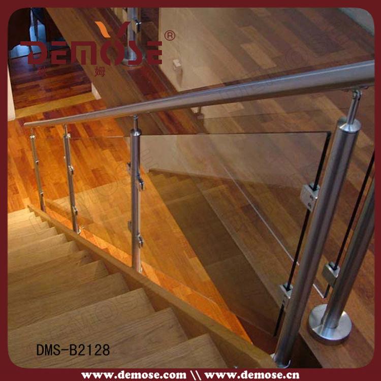 Glass Staircase Balustrade Kit: Interior Glass Stair Railing Kits, View Interior Glass