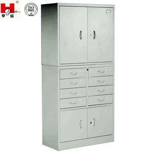 High Quality Office Storage 8 Drawer Metal 4 Doors Cabinet