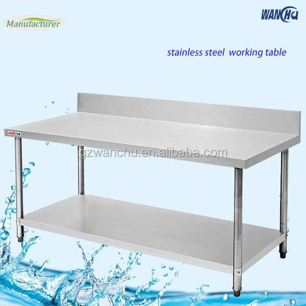 Restaurant Kitchen Work Tables double layers kitchen work bench/restaurant stainless steel