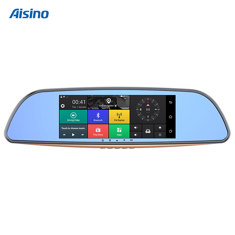 Full HD dashcam 1080p Aisino panel táctil Dual Cam Android espejo retrovisor coche DVR