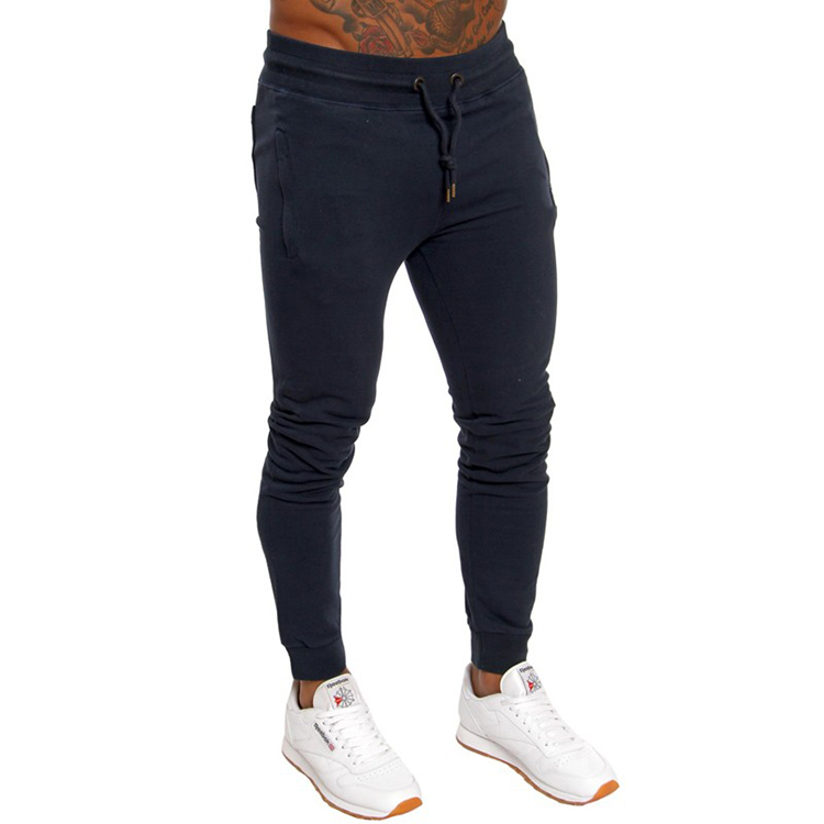 Wholesale blank pants men formal slim fit joggers men with zippers