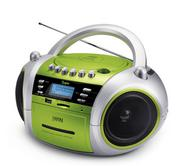 JWIN JX-CD573GRN Portable MP3 CD / CD Player with Cassette and USB / SD / MMC Slot