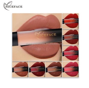 Niceface branded 18 colors waterproof matte liquid lipstick factory wholesale