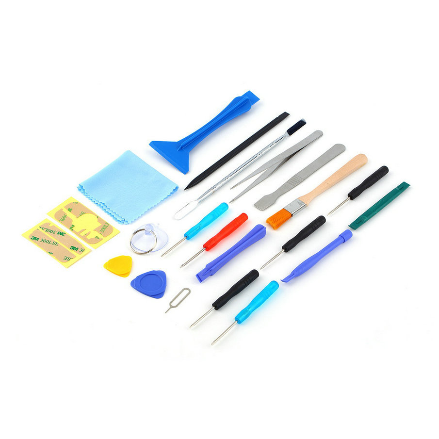 For Cell Phone Tablet 22 in 1 Open Pry mobile phone Repair Screwdrivers Sucker hand Tools set Kit Wholesale