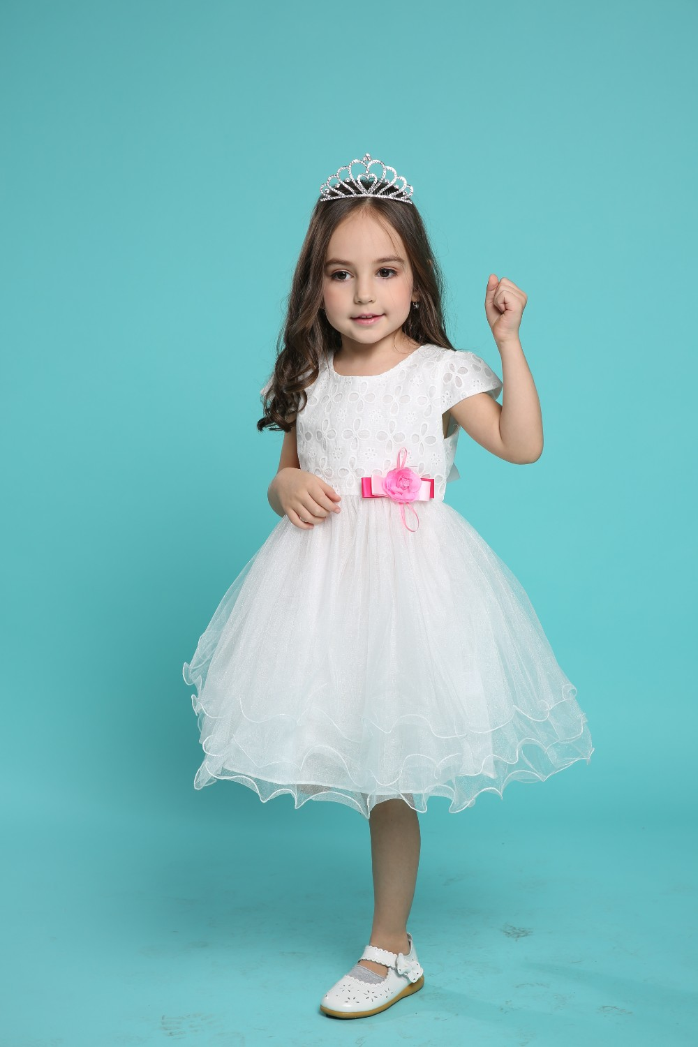 9683#flower Girl Dress Girls Pictures Of Beautiful Dresses Baby ...