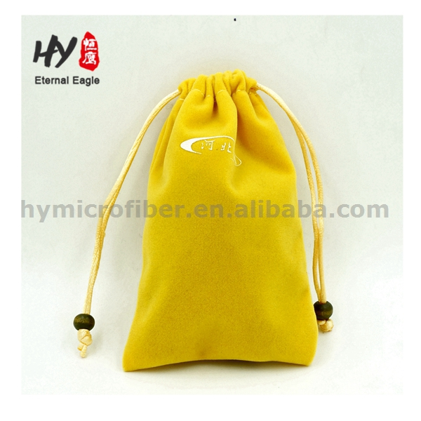 Chinese wind design custom velvet fabric jewelry bag