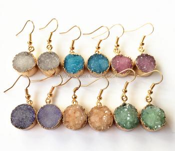 4d7533526 Wholesale Simple Gold Druzy Stud Earrings Designs For Women - Buy ...