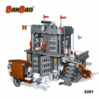 BanBao 8261 Black Sword Castle Tower Plastic Blocks Educational Building Bricks ABS Material Toys Kids Compatible with Legos