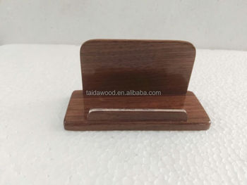 Business card display holderbrown walnut wood card case for desk business card display holder brown walnut wood card case for desk desktop wooden name reheart Gallery