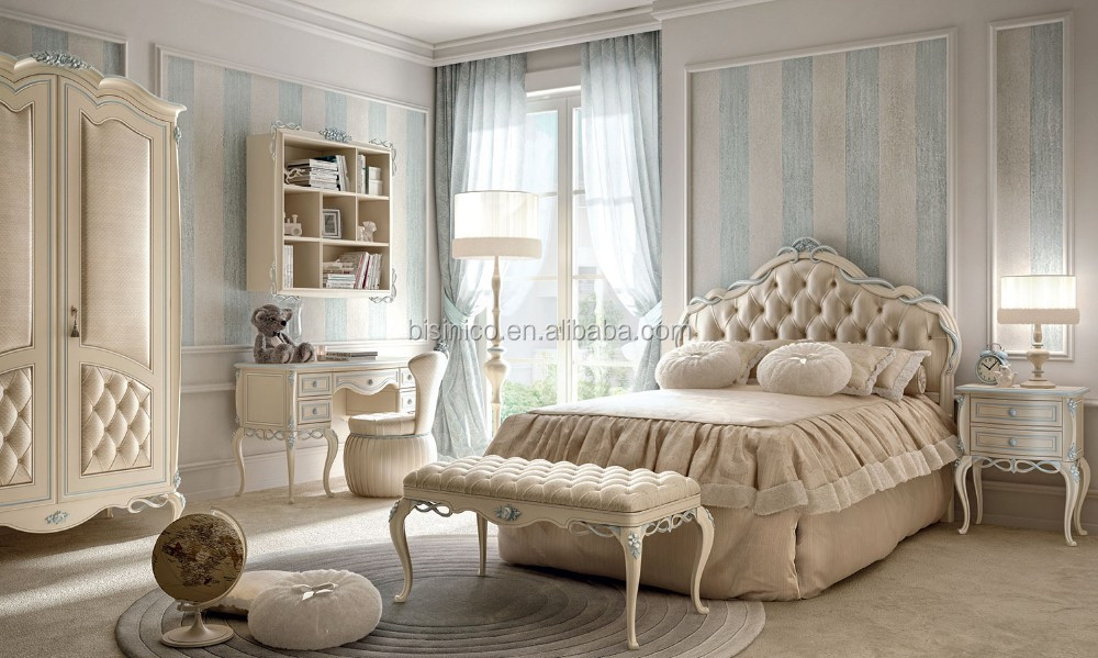 French Style Antique White Luxury Bedroom Set, Classic White Bedroom Set,  View french provincial bedroom set, BISINI Product Details from Zhaoqing ...