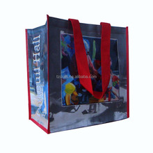 Wholesale custom promotional reusable and laminated tote recyclable PP non woven shopping bags