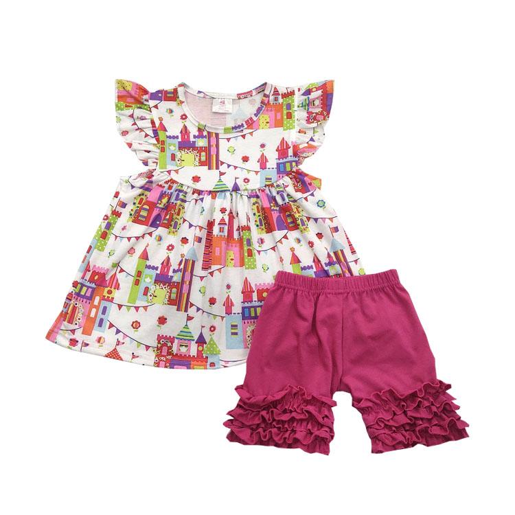 916008f1bd09 2019 moda roupas de verão vermelho cereja sem mangas top e floral ruffle  calças baratos por