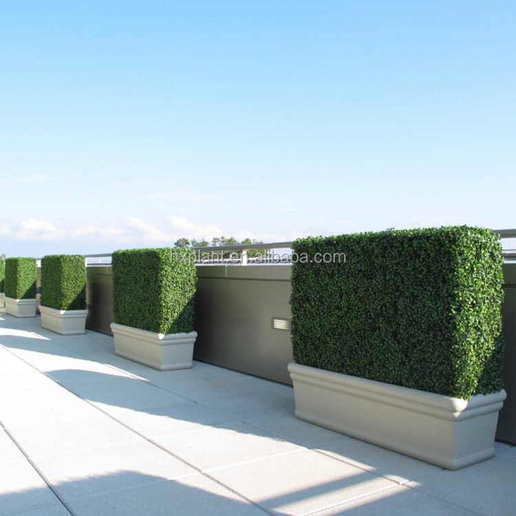 Plastic Material and Ornaments Type Artificial boxwood Panel