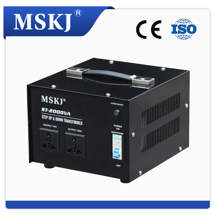 portable step up & down 2000W transformer 220v to 110v voltage converters