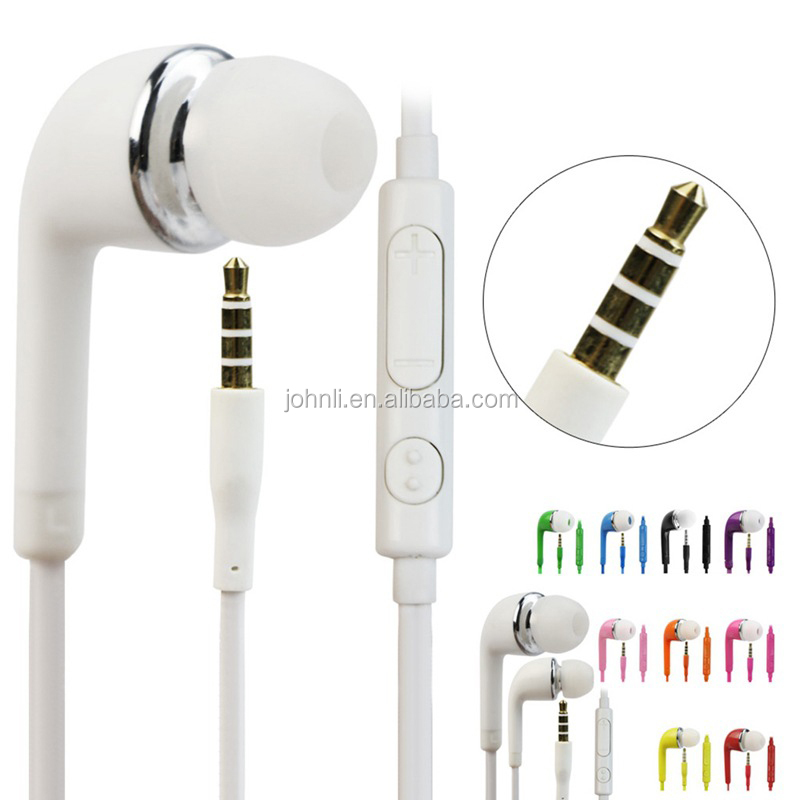 Mic+ Volume colorful handfree S4 headphone & earphones J5 headset mobile phones earphone for samsung earphone