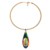Shengyou Lady Statement Jewelry Zinc Alloy Colorful Pendant Necklace