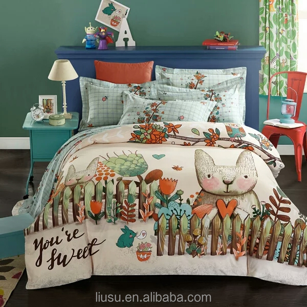 typical children polyester duvet cover set you're sweet printed